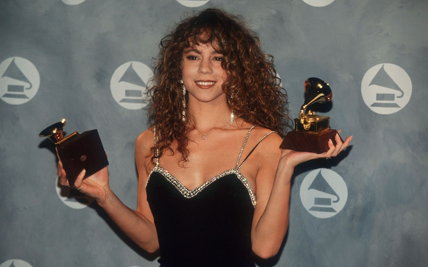 089910 07: Mariah Carey holds her Grammy Awards February 20, 1991 in New York City. The recording industry''s most prestigious award, the Grammy is presented annually and brings together thousands of creative and technical professionals. (Photo by Bill Swersey/Liaison)
